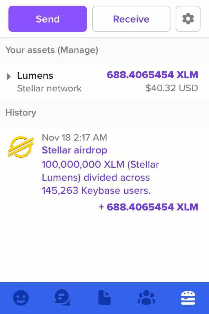 airdrop XLM